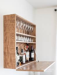 how to build this diy wall mounted bar