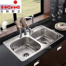 one piece double bowl 50 50 stainless steel kitchen sink wash sink