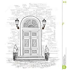 Perfect Front Door Drawing Background House Entrance For Inspiration And Ideas