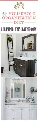 Organizing and Cleaning the Bathroom {March HOD