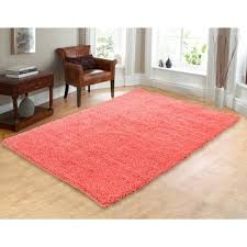 coral colored rug. Catchy Coral Area Rug With Chesapeake Hand Woven Shag Reviews Wayfair Colored E