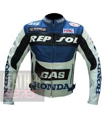 honda gas repsol navy blue genuine leather