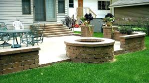 build inground fire pit outdoor fire pit image of patio ideas with fire pit how to build inground