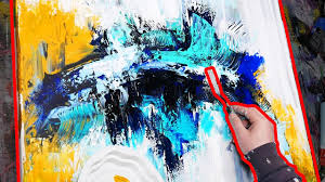 how to paint palette knife painting step by step with acrylic echoes