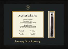 armstrong state university diploma frame flat matte black tassel  image of armstrong state university diploma frame flat matte black w embossed asu