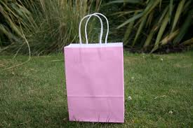 Light Pink Gift Bags 50 Pcs Kraft Paper Gift Bags With Handles Light Pink