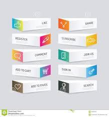 Button Design Modern Banner Button With Social Icon Design Options Vector