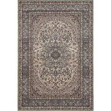 traditional oriental high quality medallion design gray 3 ft x 5 ft area rug