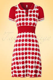 60s Sweet Success Dress in Audrey Apple Red | Apple dress, Fabulous  clothes, Dresses