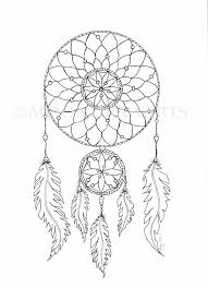 Small Picture Dream Catcher Printable Coloring Page Adult by MoonDrawArts