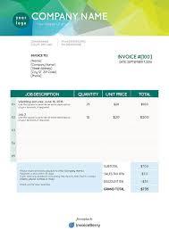 Template Of A Invoice Free Pdf Invoice Templates Invoiceberry