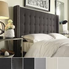 West Elm Grey Tufted Headboard