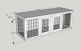 wood dog crate plans large double kennel render fit 2 c 868 ssl 1