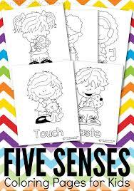 Five Senses Printable Coloring Pages Toddler Preschooler Ideas