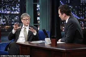 bill gates in rare appearance on jimmy fallon show daily mail online helping out jimmy fallon whose show is known for their viral videos paired