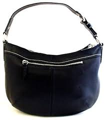 Amazon.com  Coach Soho Medium Black Leather Pleated Hobo Bag - 13730   Clothing