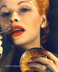 lucille ball max factor lipstick 1940s