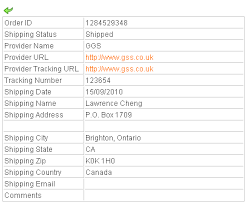 shipping info template smarty template guide