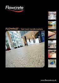 Flowcrete Color Chart Flowfast Fast Track Transformations Flowcrete Uk Pdf