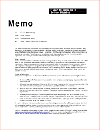 Office Memo Example Letter Memorandum Template New Business Examples