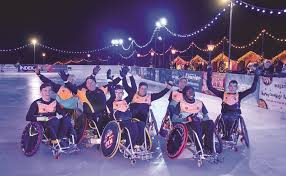 wheelchair rugby takes to the ice in tunbridge wells