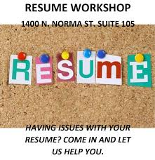 Resume Workshop Best Resume Workshop 242424 Ridgecrest America's Job Center Of