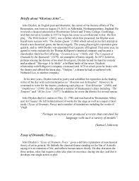 john dryden essay for drammatic poesy