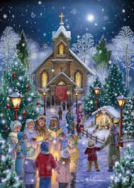 Christmas Cards Images Midnight Mass Christmas Card Religious Inspirational Christmas