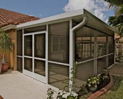 aluminum patio enclosures. A Screen Patio Enclosure From Venetian Builders, Inc., Miami. The Room Is Engineered, Designed And Installed So It Can Be Converted Later To Sunroom If Aluminum Enclosures