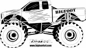 Small Picture Monster Jam Coloring Pages Free Printable Monster Truck Coloring