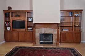 custom made fireplace mantel and entertainment center