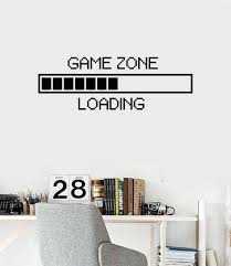 computer wall decals wall vinyl decal room decor game zone loading zoom wall  decals