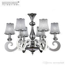 modern led chandelier light stainless steel suspension drop lamp for living dining room led res indoor lighting pendant lampshades art glass pendant