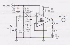 dynamic mic preamplifier circuit dynamic microphone preamplifier schematic