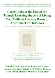 E Book Green Light At The End Of The Tunnel Learning The Art