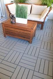 Interesting Wood Floor Tiles Ikea Runnen Decking Outdoor Gray Throughout Models Ideas