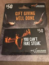 i have a 50 longhorn steakhouse gift card thanks for looking and happy bidding paypal only and ships to united states only card gift steakhouse