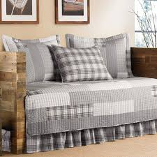ed bauer fairview 5 piece grey twin reversible daybed bedding set