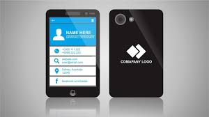 Smartphone Designer Smartphone Style Business Card Design In Corel Draw