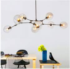 architecture bubble ceiling light attractive modern clear glass ball pendant lamp led hanging chandelier intended