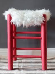 faux fur stool diy 2