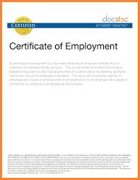 6 Certificate Of Employment Sample Format Receipts Template