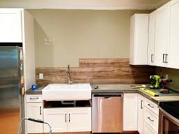 Wood Stove Backsplash Enchanting Laminate Flooring Backsplash It Looks Like WOOD Bower Power