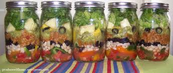 Image result for salad in a mason jar