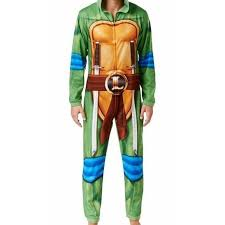 Briefly Stated Onesie Size Chart Briefly Stated New Green Mens Size Medium M Ninja Turtle Pajama Suit
