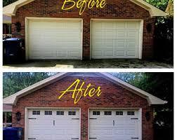 craftsman style garage doorsCarriage House Style Vinyl Garage Door Decal Kit Faux Windows