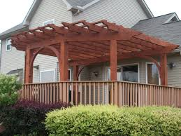 Pergola Design Awesome Custom Cedar Pergola Existing Deck