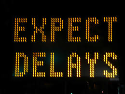 Image result for expect delays sign