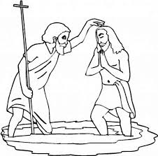John The Baptist Is Baptism Jesus Coloring Page Netart