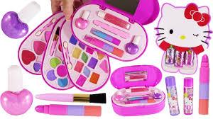 bubblepop beauty spot o kitty lip jelly 4 layer makeup kit eyeshadow lipstick nail polish